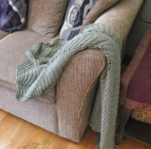 Sage Sofa Throw Pattern