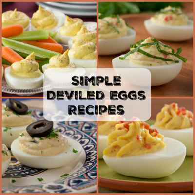 12 simple deviled eggs recipes mrfood it doesnt get much easier than these easy deviled eggs recipes if youre hosting a barbecue or just a small get together with friends and family forumfinder Images