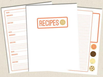 Sweet Free Printable Recipe Pages