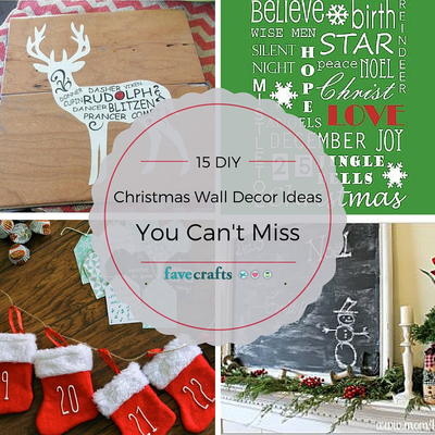15 diy christmas wall decor ideas you cant miss - Christmas Wall Decoration Ideas