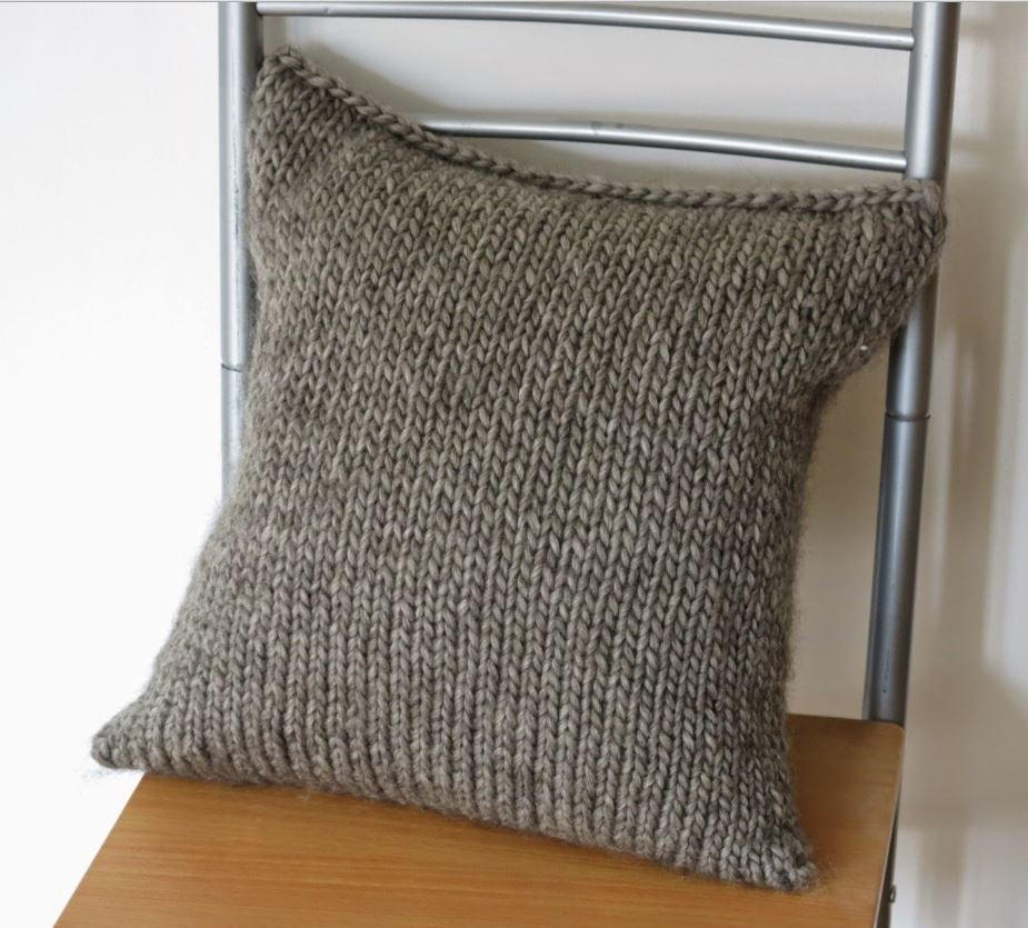 Simple Seamless Cushion Cover Allfreeknitting