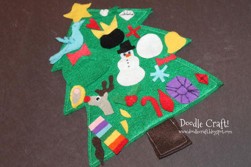 Felt Advent Tree Calendar