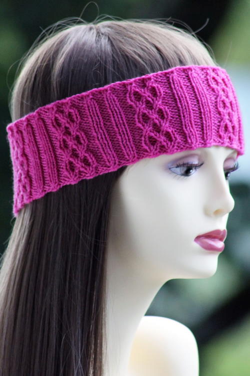 Pink Cable Braid Headband