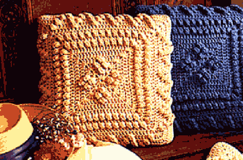 Cozy Cottage Crochet Popcorn Pillow Allfreecrochet