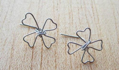Lucky Clover Wire Earrings | AllFreeJewelryMaking.com
