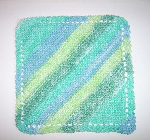 Diagonal Knit Dishcloth Pattern Allfreeknitting