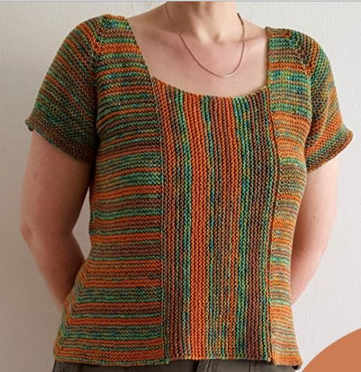 Garter Stitch Summer Sweater