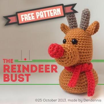 Friendly Reindeer Amigurumi   AllFreeCrochet.com