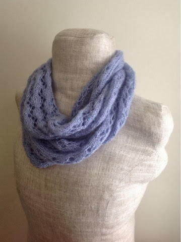 Lavender Lace Infinity Scarf Allfreeknitting