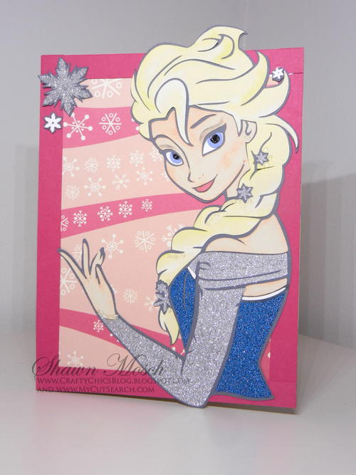 Elsa-Inspired DIY Birthday Card
