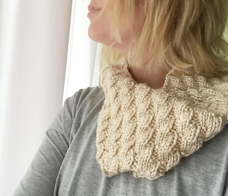 Toffee Mock Cable Cowl | AllFreeKnitting.com