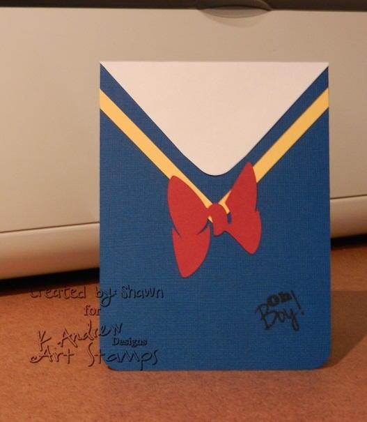 Donald Duck Handmade Birthday Card Allfreepapercrafts