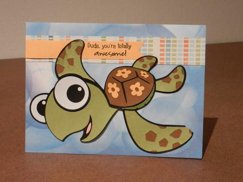 Dude Finding Dory Inspired Diy Birthday Card Allfreepapercrafts