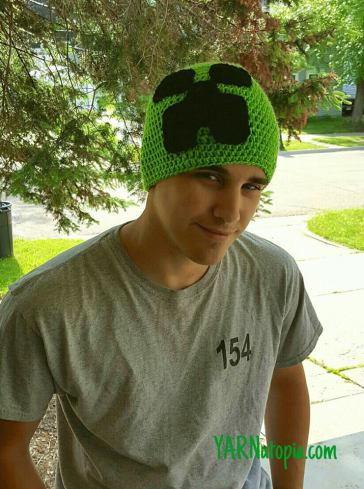 Minecraft Inspired Creeper Crochet Hat Allfreecrochet
