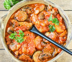Italian Slow Cooker Chicken Cacciatore