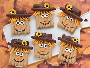 Pretzel Scarecrow Thanksgiving Recipe