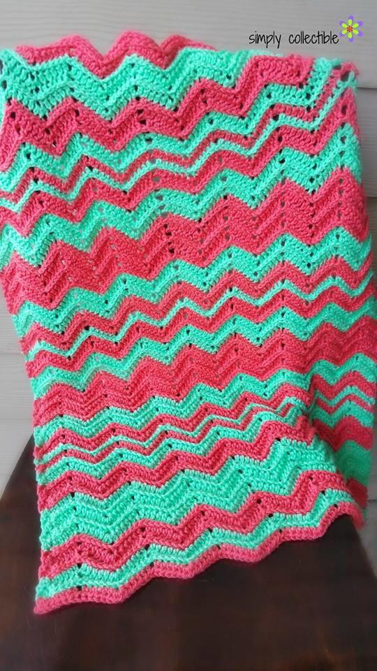 Chevron Flare Crochet Blanket Favecrafts
