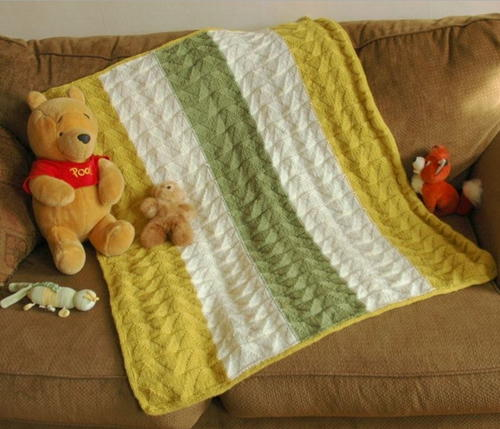 Double Pennant Baby Blanket