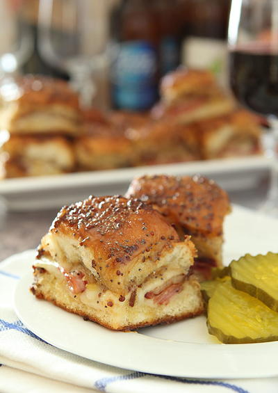 Bacon, Ham and Cheese Slider Casserole