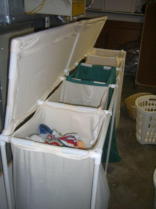 Laundry PVC Project DIY Organization