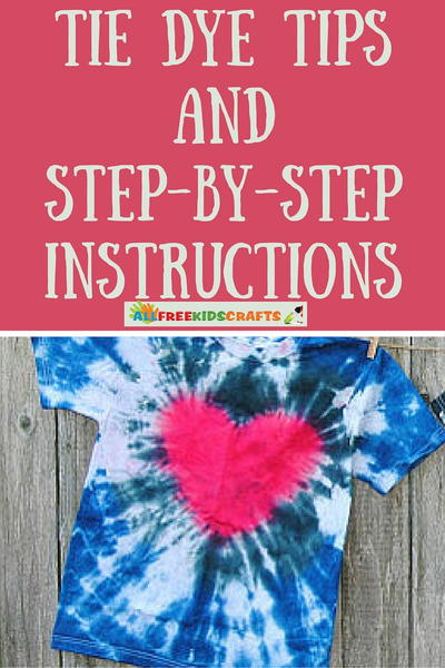Easy Tie Dye Tips And Step By Step Instructions Allfreekidscrafts
