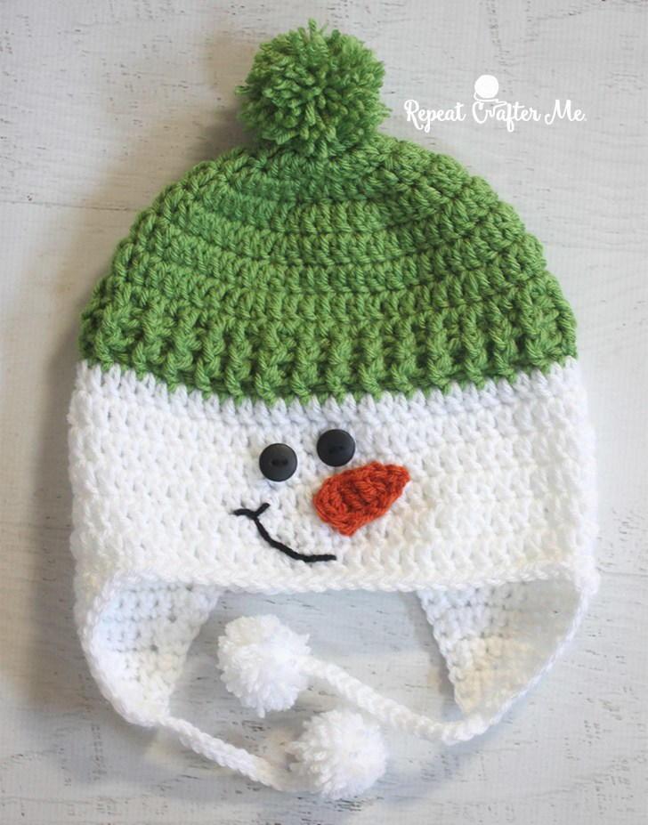 Jolly Snowman Hat Allfreecrochet