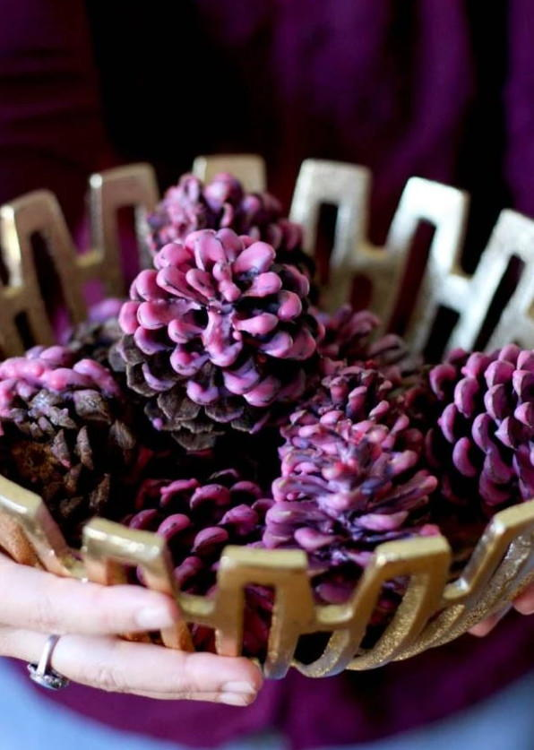 Cheery Pinecone DIY Firestarters
