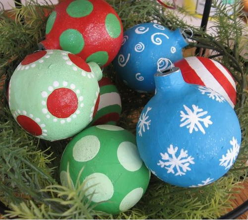 Paper Ball Christmas Decorations Glamorous Paper Mache Ball Ornaments  Allfreechristmascrafts Design Inspiration