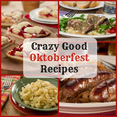 Crazy good oktoberfest recipes mrfood when it comes to celebrating our test kitchen team loves a good party and there are few parties bigger than germanys 16 day event oktoberfest forumfinder Choice Image