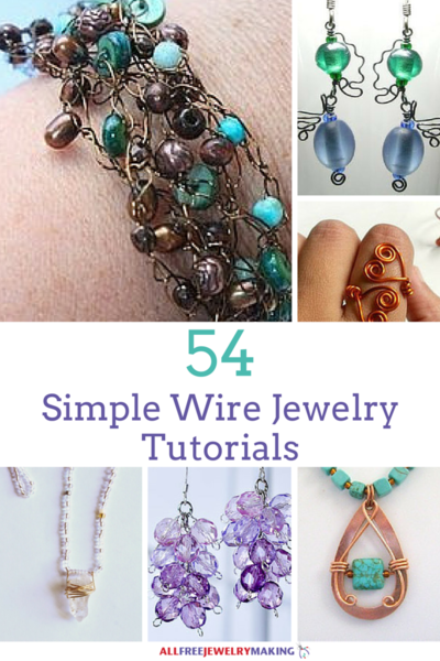 54 simple wire jewelry making tutorials allfreejewelrymaking com rh allfreejewelrymaking com Wire Made Jewelry Wire and Bead Jewelry