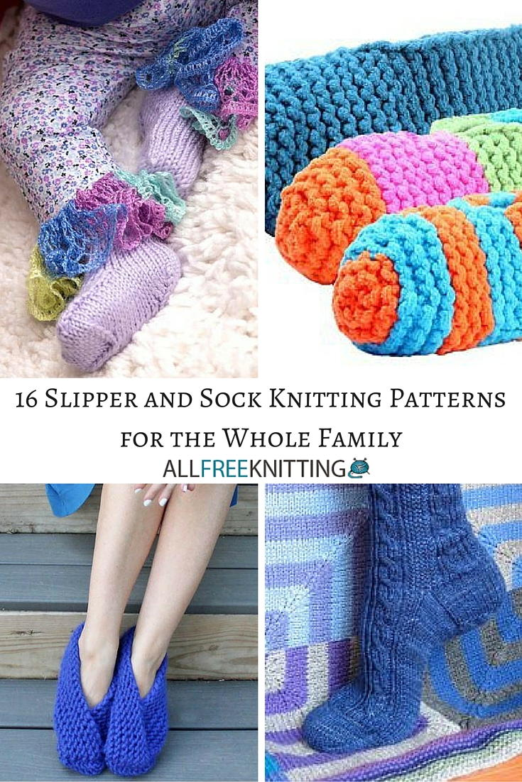 16 slipper and sock knitting patterns for the whole family 16 slipper and sock knitting patterns for the whole family allfreeknitting bankloansurffo Gallery
