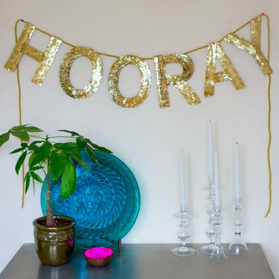 Easy Sequin Word Banner