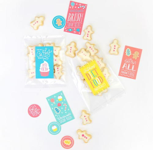 Cheeky Christmas Cookie Printable Gift Tags