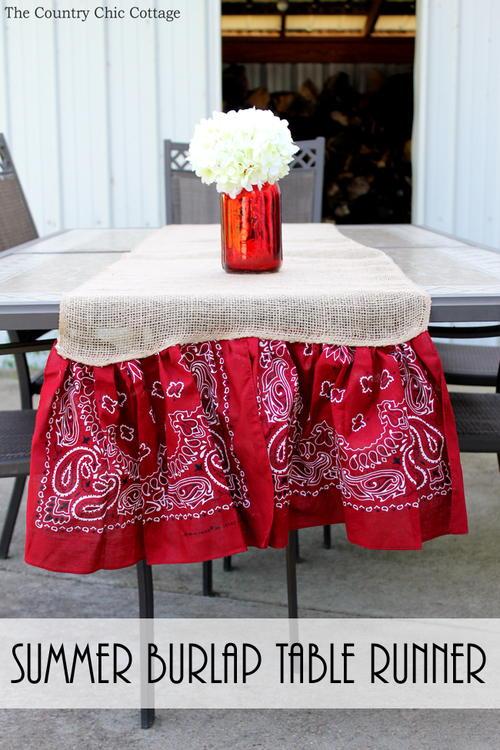 Backyard Bash Table Runner Favecrafts Com
