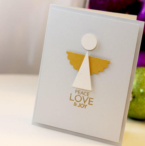 Modern angel diy christmas card allfreechristmascrafts modern angel diy christmas card m4hsunfo