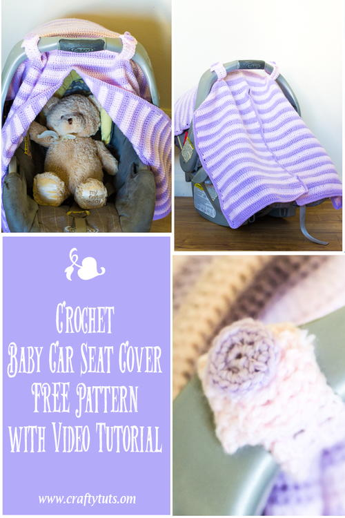 Car Seat Cover AllFreeCrochet Beauteous Baby Car Seat Cover Pattern