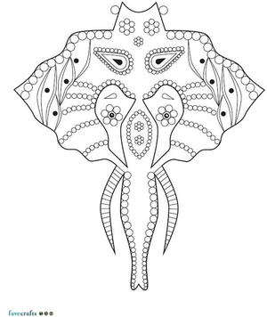 Complicated Elephant Coloring Pages. Intricate Elephant Coloring Page 50  Adult Book Pages Free and Printable FaveCrafts com