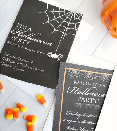 Halloween Party Invitation Templates