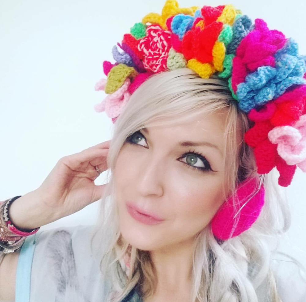Festival flower crown crochet headphones favecrafts izmirmasajfo