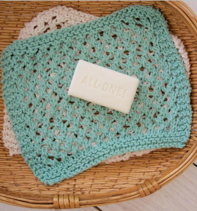 Seafoam Knit Washcloth Pattern | AllFreeKnitting.com