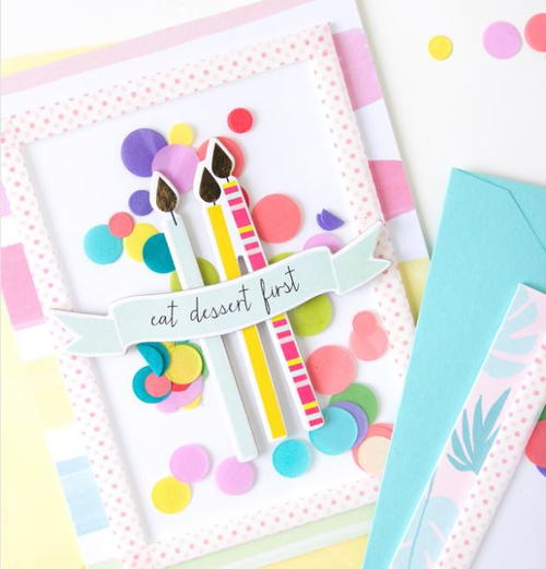 Colorful Confetti Shaker Cards