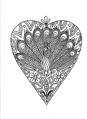 Peacock Printable Coloring Page