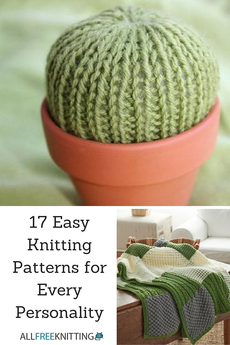 17 Easy Knitting Patterns for Every Personality | AllFreeKnitting.com