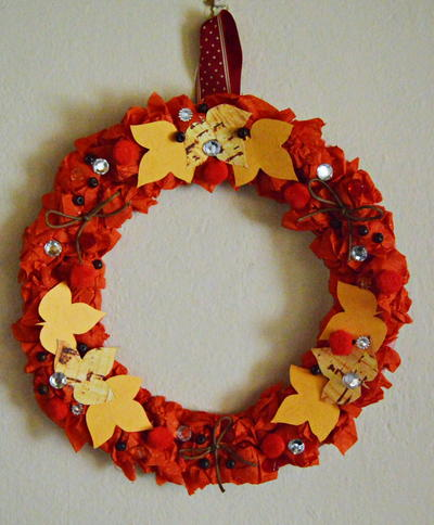 Autumn Leaves Paper Wreath