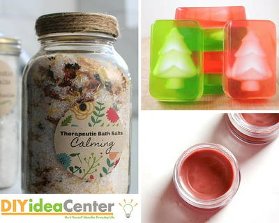 Christmas Gift DIY Bath Products | DIYIdeaCenter.com