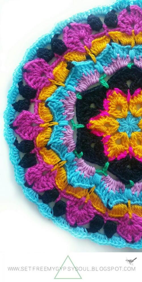 African Flower Mandala Blue Hawaii   FaveCrafts.com