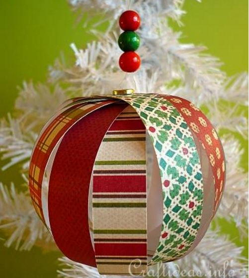 Paper Strip Sphere Christmas Ornament Crafts