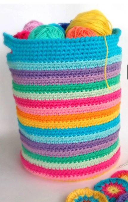Yarn Blast Basket Allfreecrochet