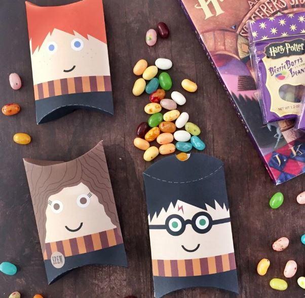Harry Potter Printable Pillow Boxes Allfreepapercrafts