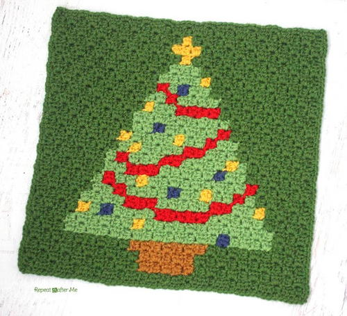 Have a Pixel Christmas Christmas Tree Square
